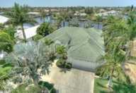 gulf access property with tropical garden