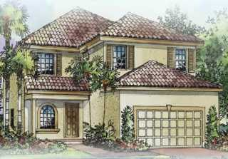 New 2-story home in gated community in Coral Lakes: Elm